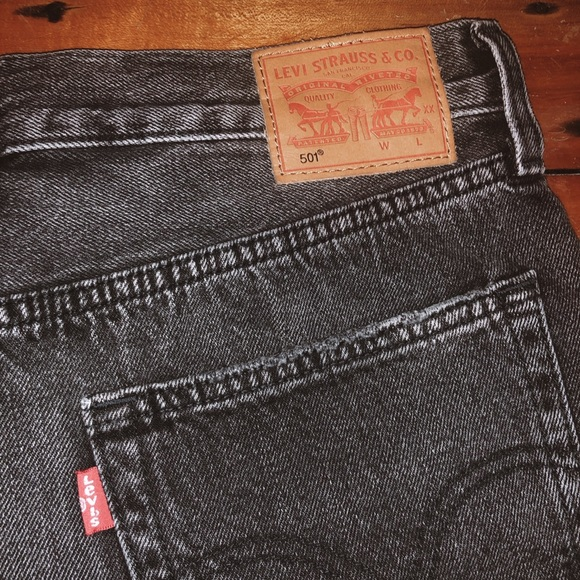 b85ff3d8 Urban Outfitters Shorts | Recycled Black Denim Levi | Poshmark